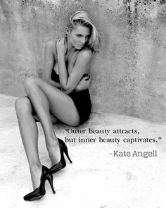 """Outer beauty attracts, but inner beauty captivates.""  ― Kate Angell, Squeeze Play"