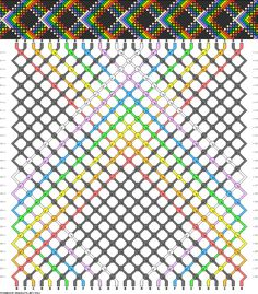 Friendship Bracelet Pattern 4461 new Floss Bracelets, Bracelet Knots, Chevron Bracelet, Diy Friendship Bracelets Patterns, Colorful Bracelets, Hobbies And Crafts, Bead Weaving, How To Memorize Things, Crafty
