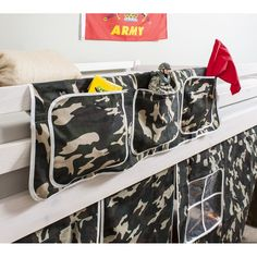 Army Bed Tidy in Army Design with Camouflage Bed Organiser- for George?
