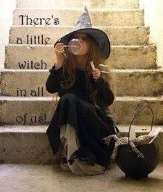 A little Witch, I like the idea of Emma blowing bubbles into the cauldron because Jaymee will miscommunicate the bubble, bubble, toil and trouble part of the spell!