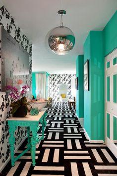 Wohnideen Flur, Schwarz Weiß, Grau, Welche Farbe, Farbgestaltung, Kontrast,  Farbig, Garderobe, Wände