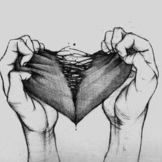 Ripped Heart #Torn #Broken #Art
