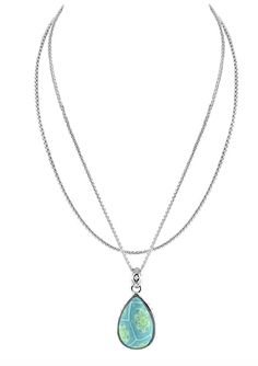 Jilzarah 2-Length Tear Drop Necklace. Perfect gift for you loved ones this April! #Jewelry #TailoredWest #SpringFashion