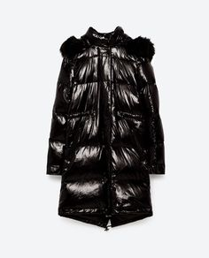 Image 8 of QUILTED JACKET WITH HOOD from Zara