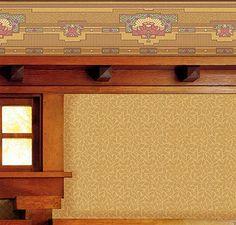 Arts And Crafts Style Home Wallpapers | Ochre | Bradbury & Bradbury