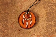 """Nahko and Medicine for the People Wood Burned Dreamcatcher Necklace - """"I believe in the good things coming"""" by allysonanthony on Etsy https://www.etsy.com/listing/495787095/nahko-and-medicine-for-the-people-wood"""