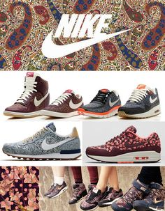 Active Sportswear Print & Pattern [Special Report] | Patternbank Nike x Liberty Collection