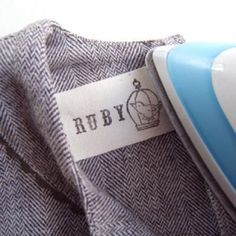 Hand-Stamped Clothing Label
