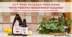 20 Ways to Clean Your Home with Thieves Household Cleaner #essentialoils #naturalcleaning - DontMesswithMama.com