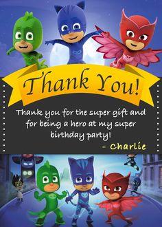 Pj Masks Birthday Invitation Multiple By SergioDesignsShop