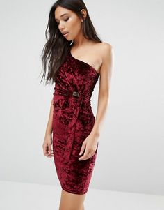 Shop the latest Boohoo Velvet One Shoulder Bodycon Dress trends with ASOS! Free delivery and returns (Ts&Cs apply), order today! Evening Dresses For Weddings, Women's Evening Dresses, Dressy Dresses, Maxi Dresses, Party Dresses, Fashion Company, One Shoulder, Bodycon Dress, Clothes