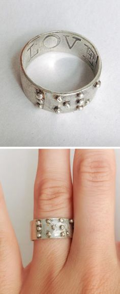 Love is Blind Braille Ring <3