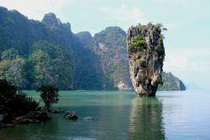 """Ko Tapu or """"James Bond Island"""" in Phang Nga Bay, Thailand Phuket Travel, Asia Travel, Ao Phang Nga National Park, Paradis Tropical, Christopher Lee, James Bond Island, Plantation, Dream Vacations, Kayaking"""