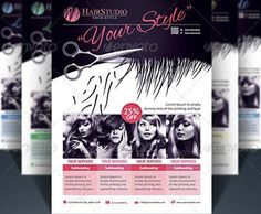 Free Hair Salon Flyer Psd Posters