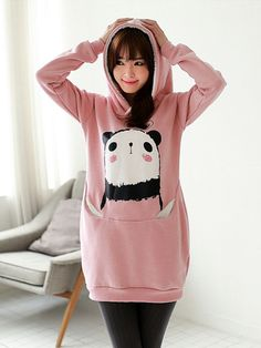 blushing panda hoodie $77 #asianicandy