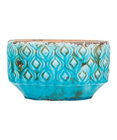 This Aqua Oval Embossed Planter is perfect! #zulilyfinds