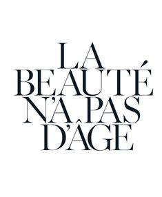 beauty has no age.
