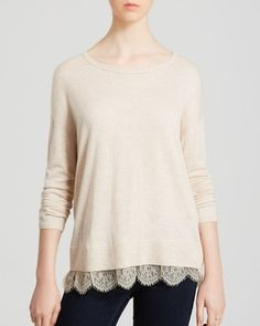 Joie Sweater - Hilano Lace Trim from Bloomingdale's