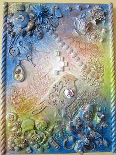 Mixed Media Collage Wall Art Romantic Mixed by MysteriesOfMadeline