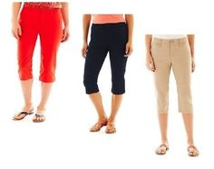 St Johns Bay Womens Capri Pants Secretly Slender Solid size 4 6 8P 14P NEW  14.99 http://www.ebay.com/itm/St-Johns-Bay-Womens-Capri-Pants-Secretly-Slender-Solid-size-4-6-8P-14P-NEW-/253101113810?ssPageName=STRK:MESE:IT