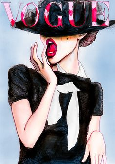 Vogue Germany cover by Danny Roberts #painting #fashion