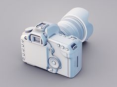 Canon 5d Clay render for case studie
