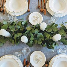 Farmhouse-Inspired Thanksgiving Table Decor You Can Snag On Amazon Simple Table Decorations, Wedding Wall Decorations, Table Centerpieces, Wedding Table Garland, Decor Wedding, Wedding Flower Packages, Blue Wedding Flowers, Wedding Greenery, Artificial Eucalyptus Garland