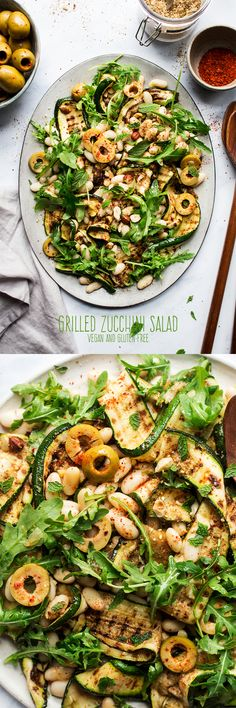 #easy #summer #bbq #vegan #salad #zucchini #lemon #healthy #courgette #grill #grilled #charred #quick #lunch #dinner #appetizer