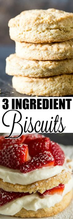 Trusted for the last 35 years, this homemade biscuit recipe is just 3 ingredients. Make these for dinner, shortcake, and all your favorite breakfast dishes! via @culinaryhill