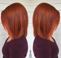 Effektvoll! Färbe Deine Haare in einem satten Kupferrot! 10 wunderschöne mittellange Frisuren - Aktuelle Frisuren