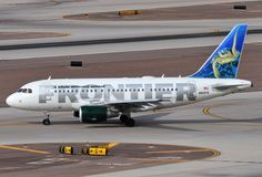 Frontier Airlines Airbus A318-111 N810FR 'Sheldon the Sea Turtle'
