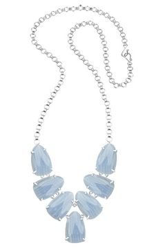 Free shipping and returns on Kendra Scott 'Harlie' Stone Cluster Long Necklace at Nordstrom.com. Icy prong-set agate stones trickle down the front of a striking long necklace.