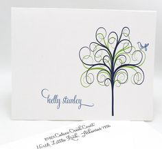 12 Personalized Stationery Note Cards Whimsy Tree by camispaperie, $16.95