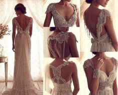 vestido largo vestido maxi vestido de encaje vestido de encaje vestido de novia vestido blanco espalda abierta