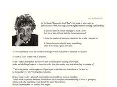 Kurt Vonnegut's 8 tips for writing short story!