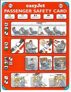 Visual explanations, data visualization and all kind of informational graphics with an aesthetic finesse. Teaching Safety, Easy Jet, Safety Posters, Technical Illustration, Safety Instructions, Old Movie Posters, Good Old Times, Poster Series, Instructional Design