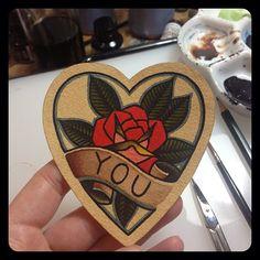 "Rose ""You"" tattoo"