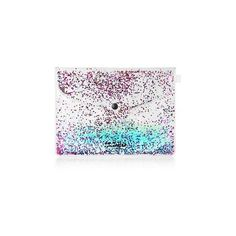 Blue Glitter Gel Clutch Bag by Jaded London (395 ARS) ❤ liked on Polyvore featuring bags, handbags, clutches, blue, topshop purses, topshop, pvc handbags, blue handbags and star purse