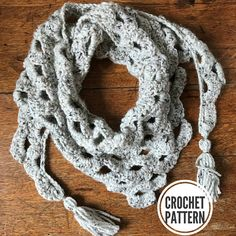 This pattern includes written instructions as well as a photo tutorial. The Arcade Triangle Scarf is unique because it is long and narrow, preventing it from being too front heavy. This crochet pattern works up quickly and looks great in many different colors and types of yarn. The