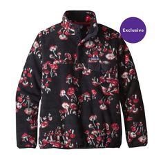 W's Lightweight Synchilla® Snap-T® Pullover, Mushroom Forest: Black (MUBK)