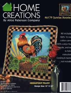 Sunrise Rooster Pillow - Needlepoint Kit Alice Peterson http://www.amazon.com/dp/B004LT5APQ/ref=cm_sw_r_pi_dp_kocvvb0V02ZHP