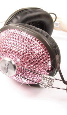 Sparkle Headphones in Light Rose
