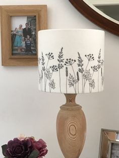 Hedgerow Embroidered lampshade - Folksy