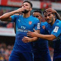 #Giroud #Walcott #Kolasinac #Arsenal #Gunners #AFCvBEN  #EmiratesCup #afc #COYG #WeAreTheArsenal