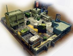 Another view of Infinity terrain setup by Sobakaa.