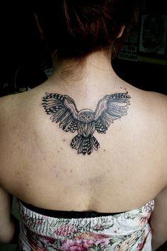 owl tattoo (Donovan Mexico) by el donovan, via Flickr