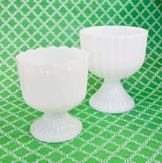 Milk Glass Vintage Vase Candle Holder Trend Bowl by OllyOxes