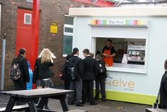 A brand new Food Cube, in use at a school! Cubes, New Recipes, Brand New, School, Food, Eten, Schools, Meals, Diet