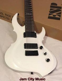 #ESP #LTD #FRX407 7-String Electric Guitar -White EMG pick ups Ultimate Metal Shredding Axe