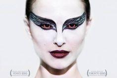 Black swan poster. Makeup and crown in detail